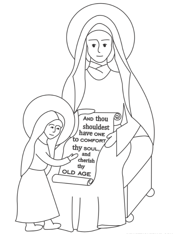 St. Anne Free Coloring Page