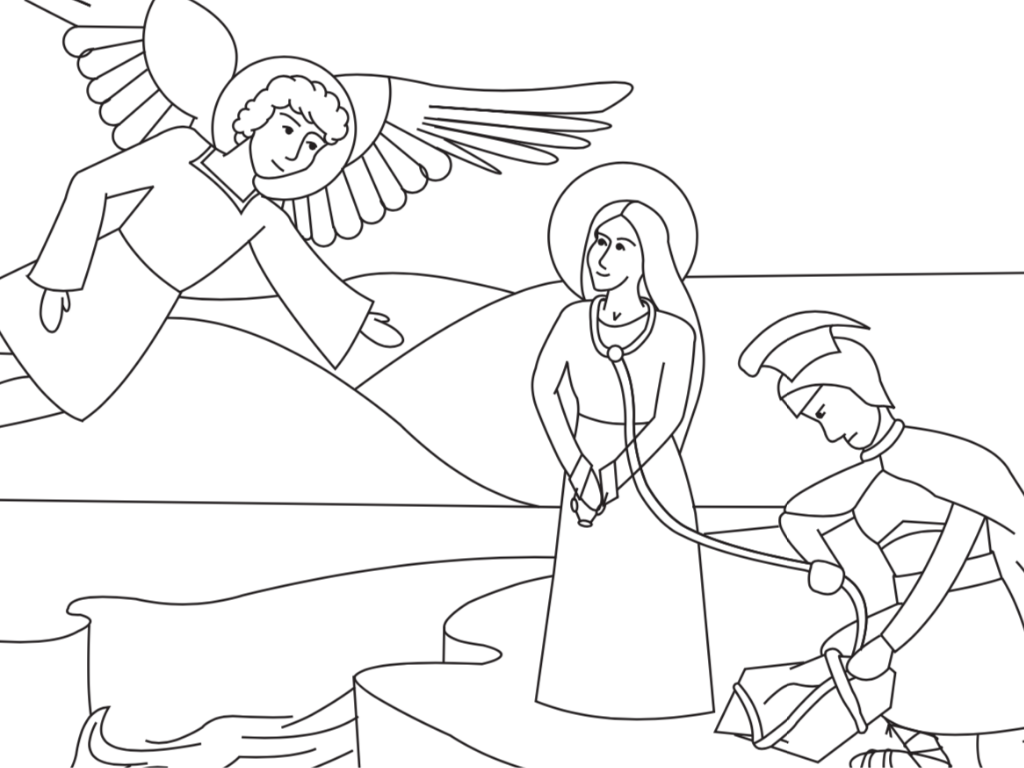 St. Christina Free Coloring Page