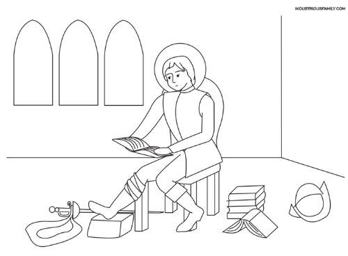 St. Ignatius of Loyola Free Coloring Page