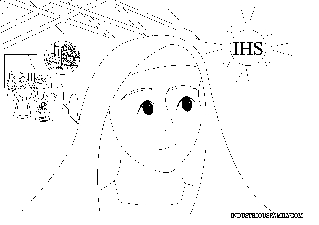 Blessed Imelda Coloring Page