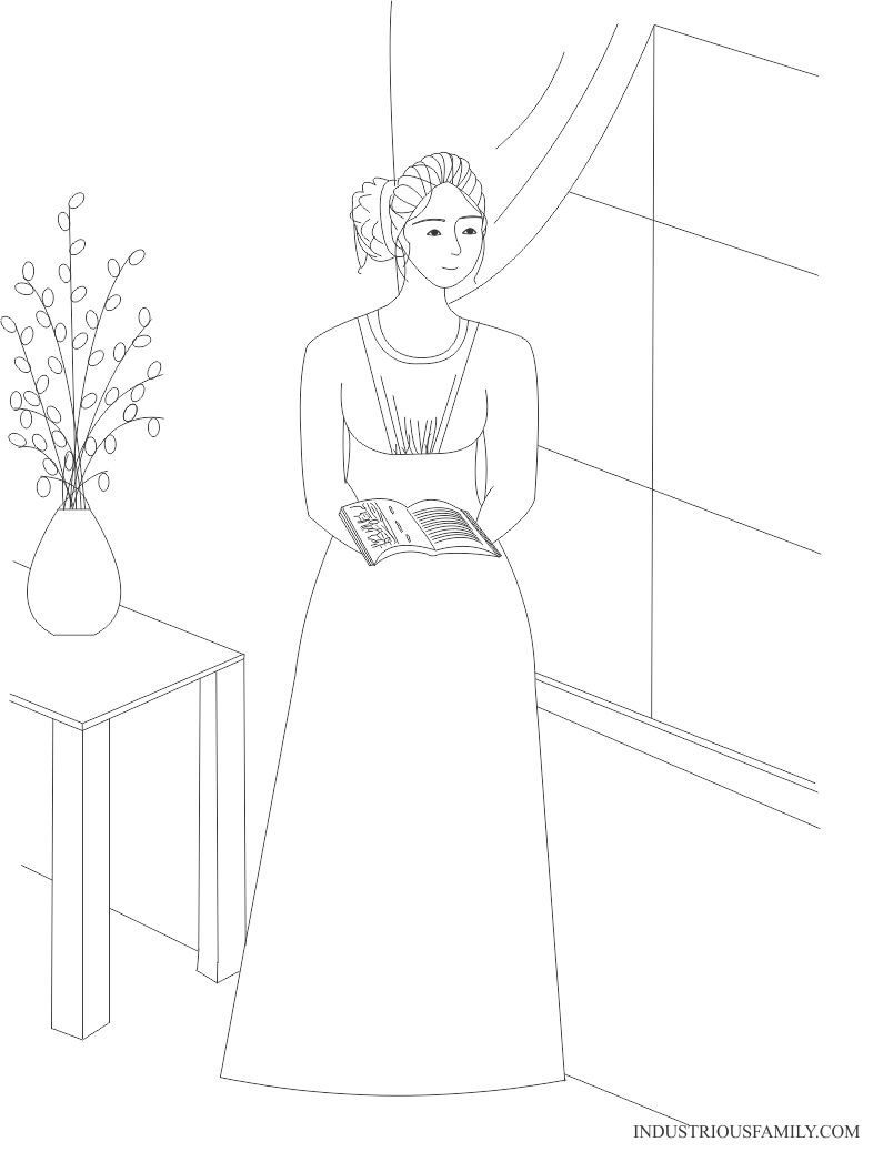 Emma Coloring Page