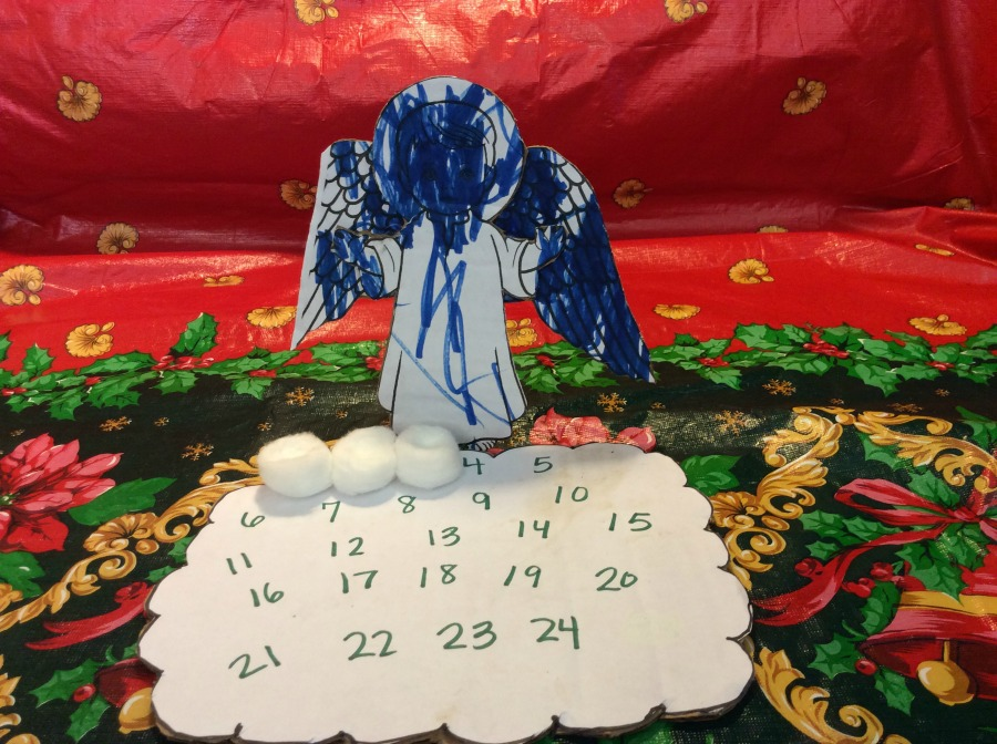 Countdown Advent Angel Craft