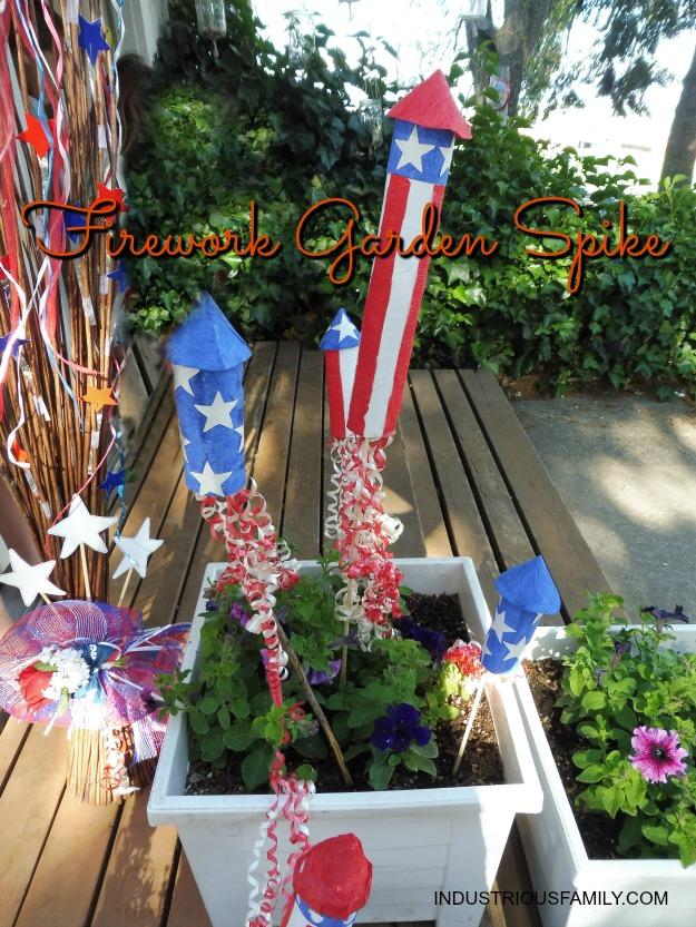 Firework garden spikes