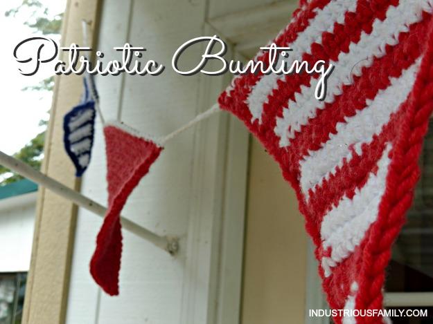 Crochet pennant bunting