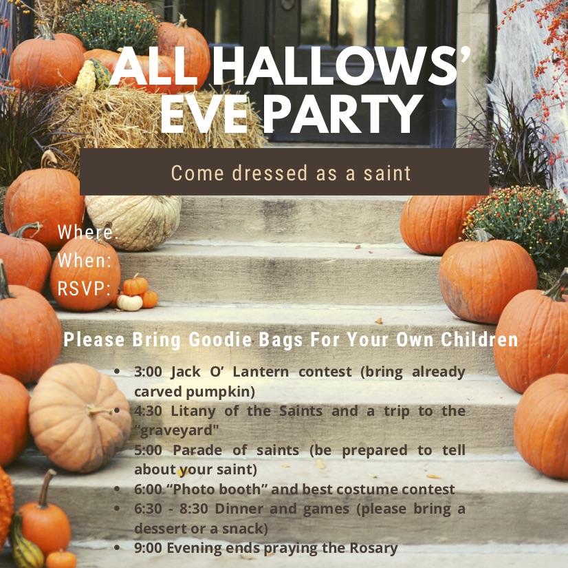 All Hallows' Eve Invitation