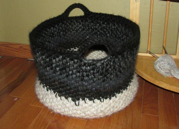 Panda Crochet Basket