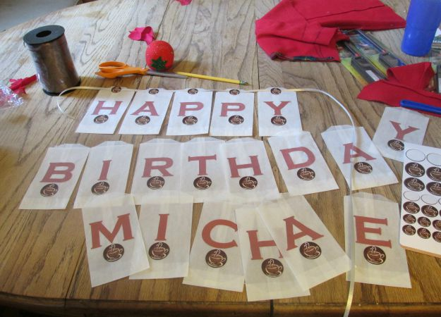 How To Create A Coffee Birthday Banner