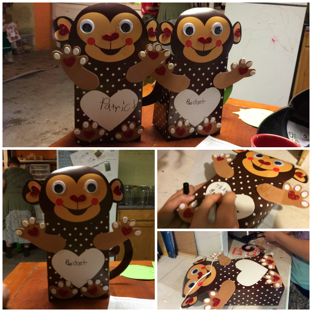Monkey Valentine Card Holder