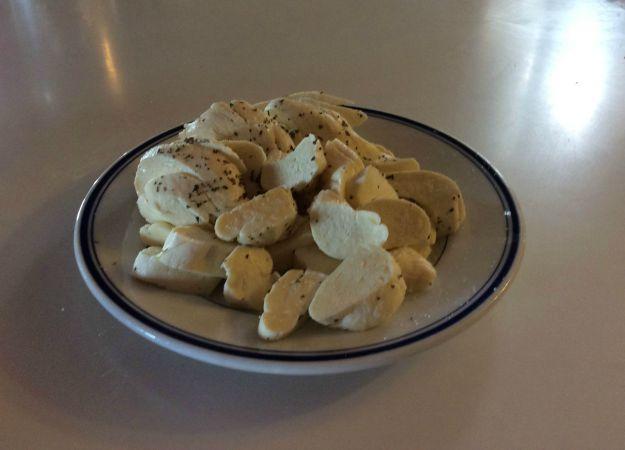 Homemade Mozzarella Cheese On A Plate