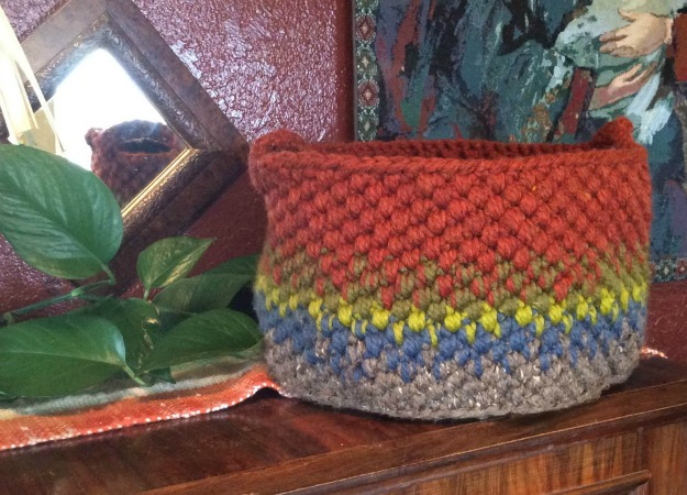 Gemstone Crochet Basket