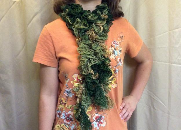 crocheted spiral scarf