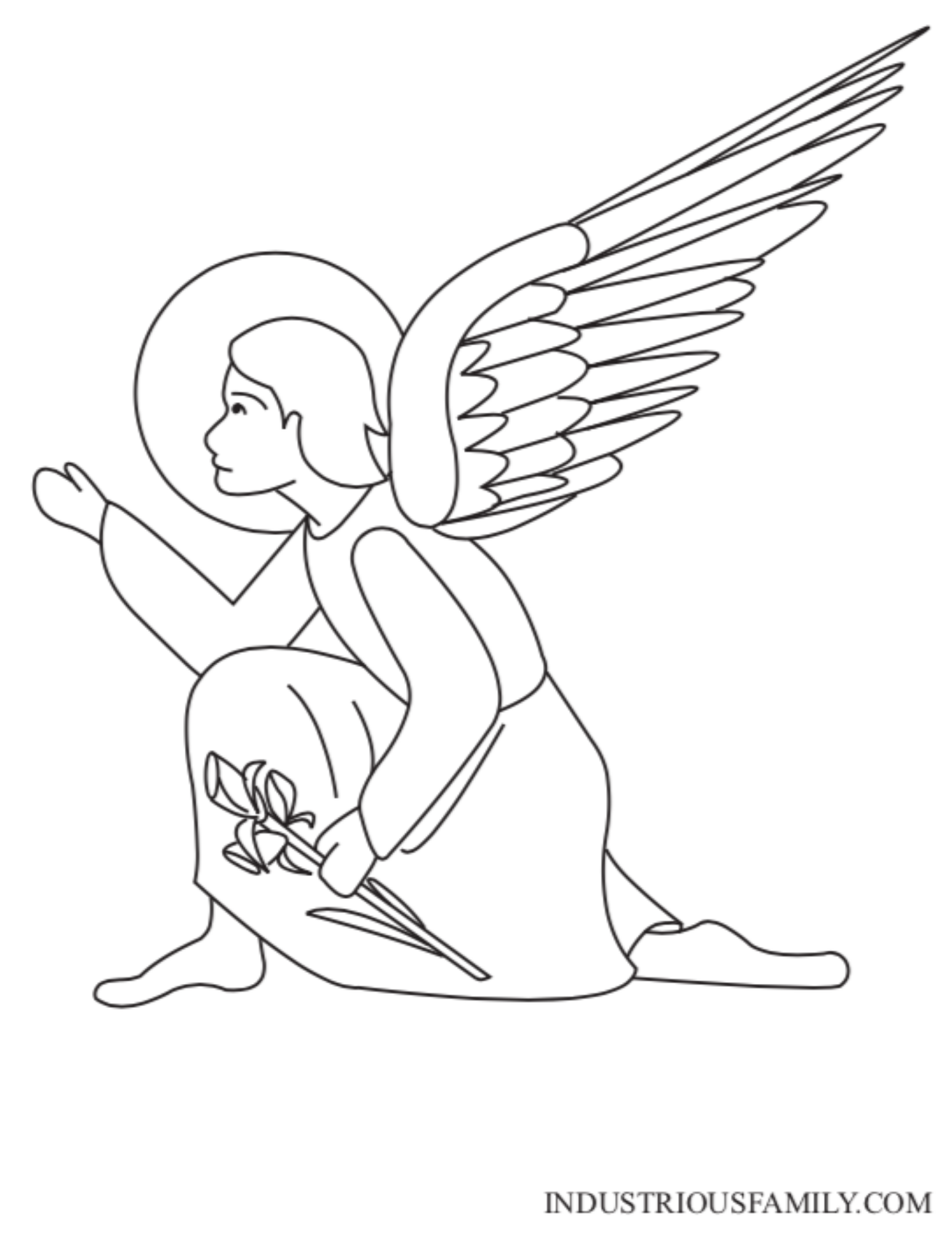 St. Gabriel Coloring Page