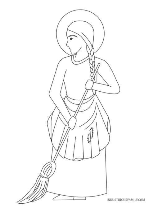 St. Martha Free Coloring Page