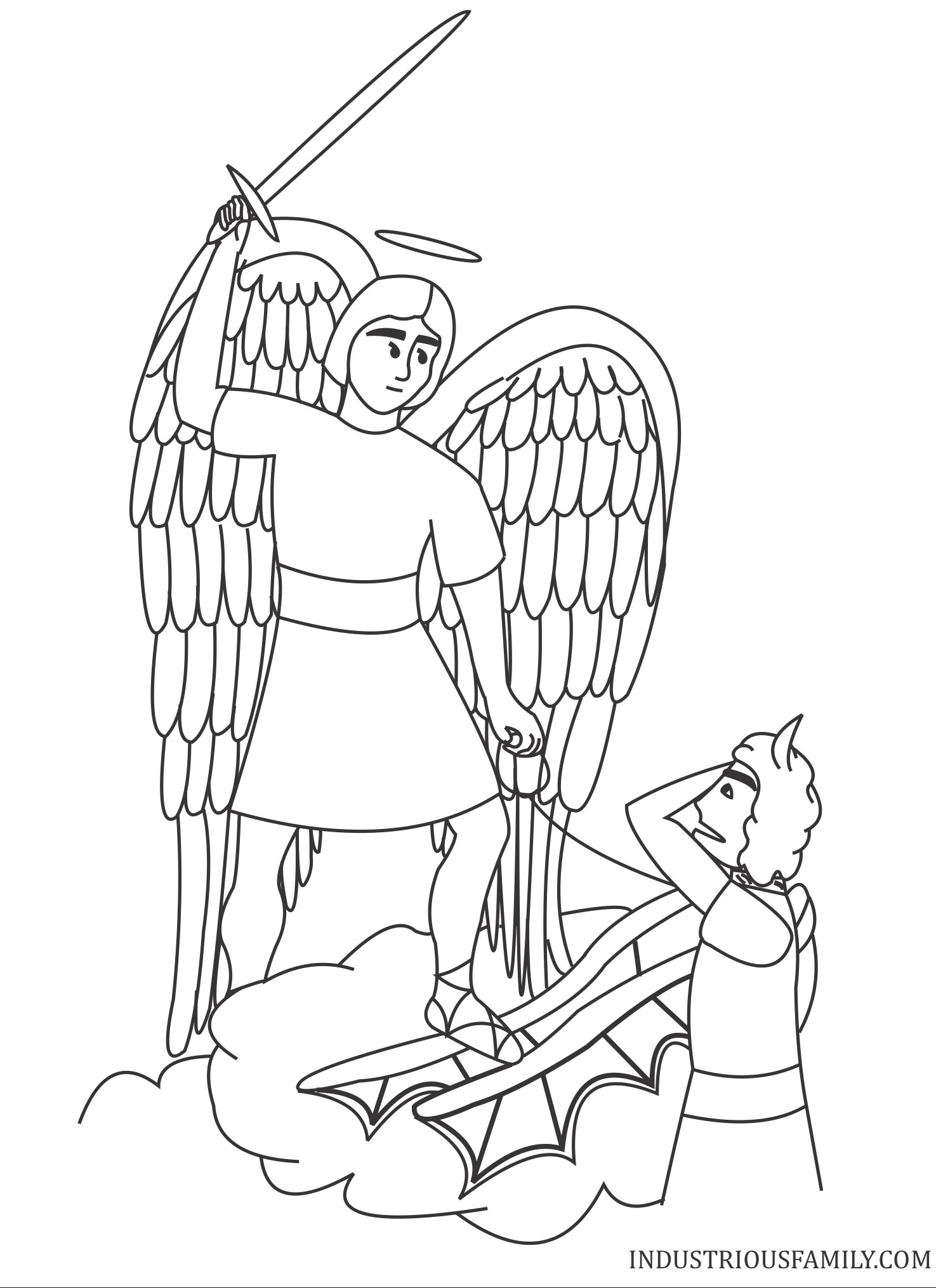 St Michael Coloring Page