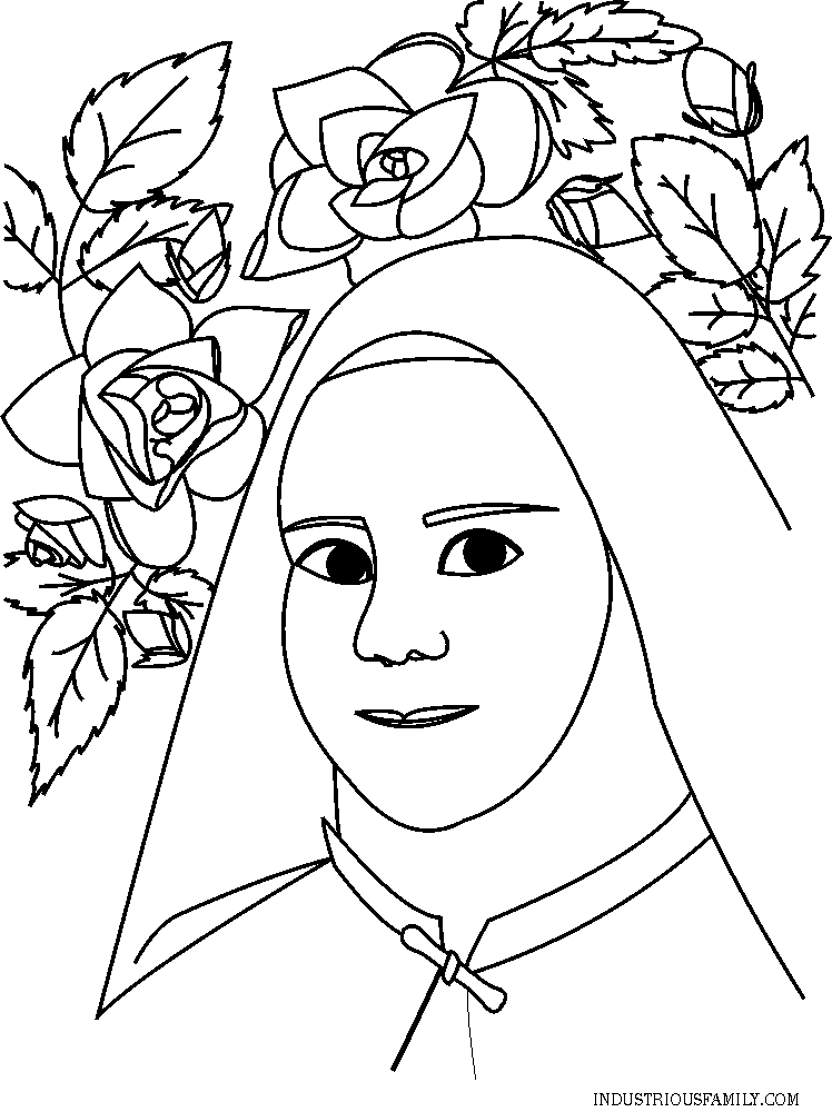 Free St Therese Coloring Page