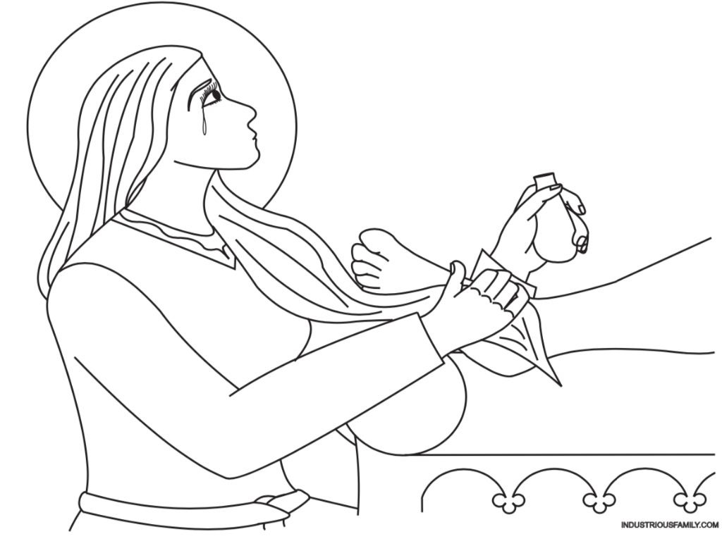 Free Mary Magdalene Coloring Page