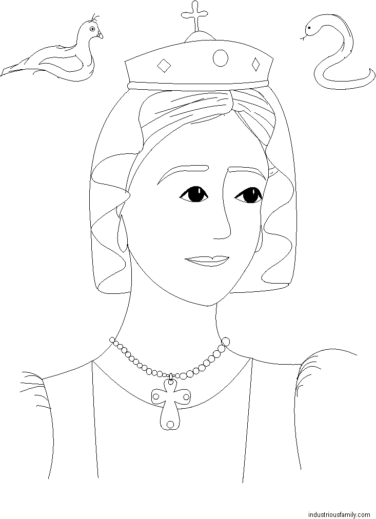St. Adelaide Coloring Page