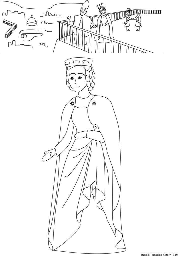 St. Isabelle of France Coloring Page