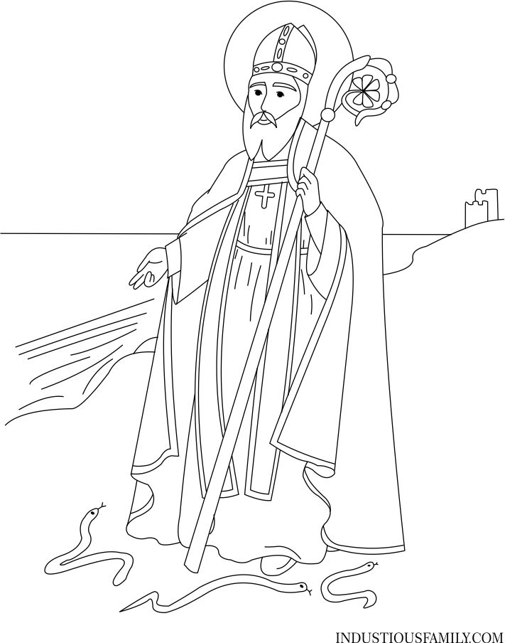 St. Patrick Coloring Page