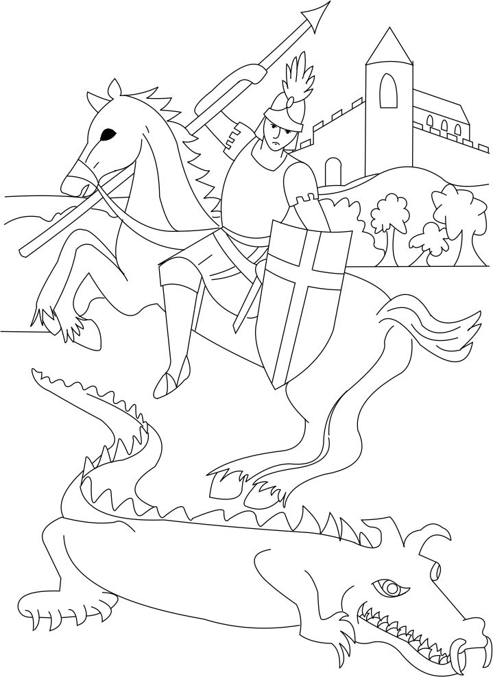 St. George Coloring Page