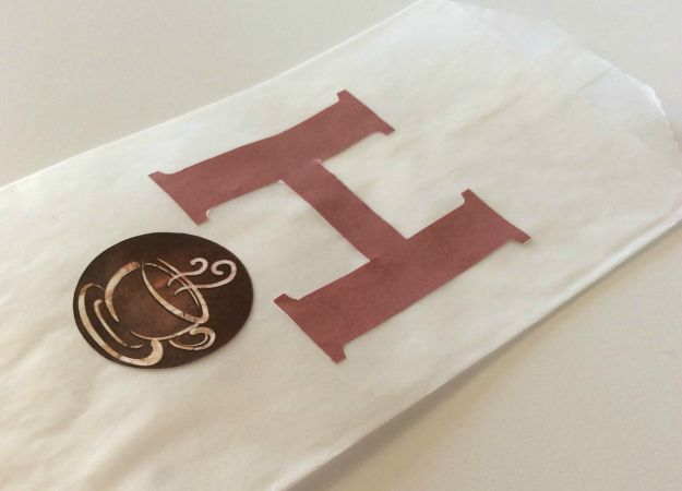 Letter H With Coffee Design