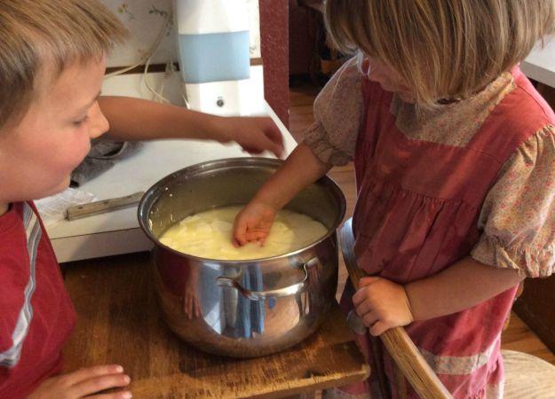 Making Mozzarella Cheese